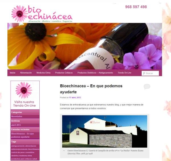 Blog Bioechinacea - Alimentación. Dietética, Fragancias, Medicina China
