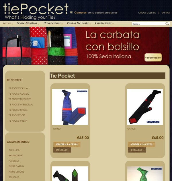 Tie Pocket - Oscommerce