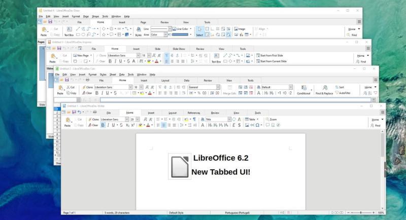 Suite Ofimática LibreOffice.