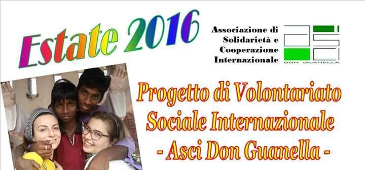 Volontariato Internazionale con ASCI don Guanella: ne parliamo giovedì 17 marzo al Politecnico di Bari