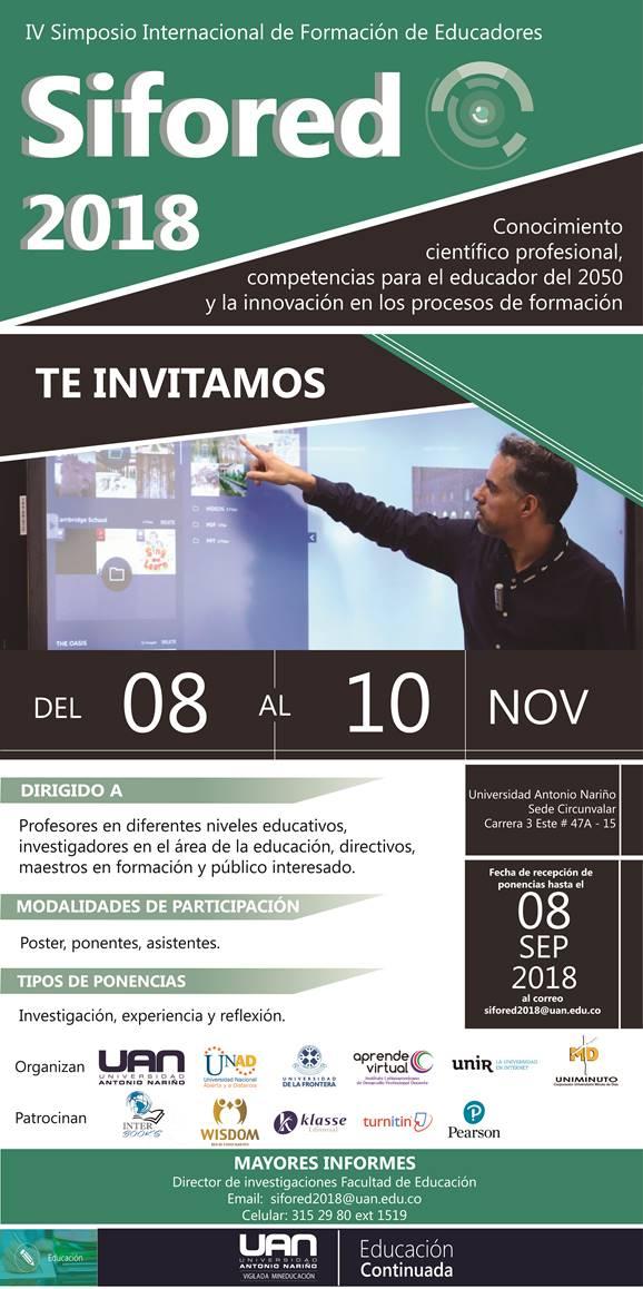 IV Simposio Internacional de Formación de Educadores.