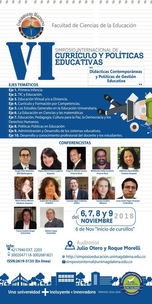 VI Simposio Internacional Curriculo y Políticas Educativas. UniMagdalena.
