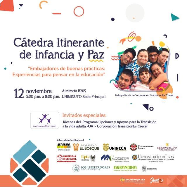 Cátedra Itinerante de Infancia y Paz.  Embajadores de buenas prácticas: experiencias para pensar en la educación.