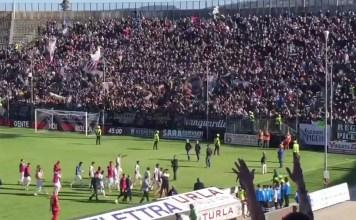 La festa dei tifosi dell'Ascoli Picchio