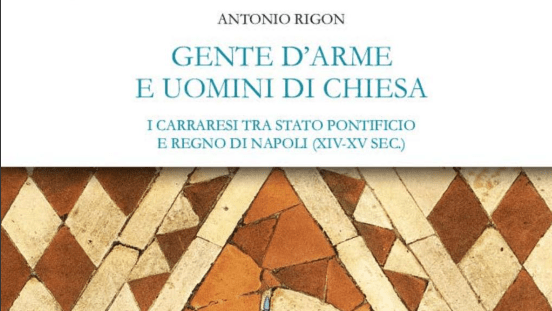 La copertina del libro di Antonio Rigon