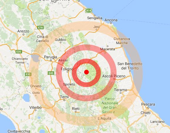 Terremoto, scossa avvertita anche nel Piceno