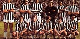 La formazione dell'Ascoli che ottenne la prima promozione in serie A