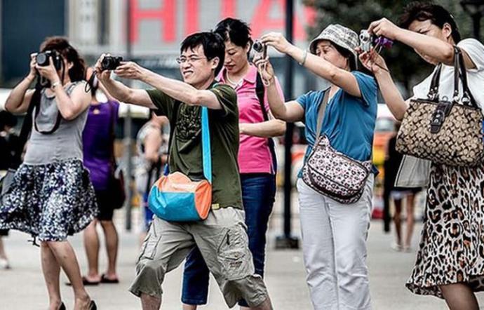 Turisti, foto d'archivio