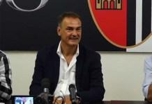 Il nuovo allenatore dell'Ascoli Calcio Vincenzo Vivarini, foto da diretta Facebook