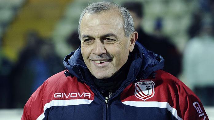 L'allenatore del Carpi Fabrizio Pastori