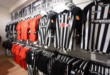 L'inaugurazione del nuovo store dedicato ai tifosi dell'Ascoli Calcio, foto da pagina Facebook Ascoli Calcio Fc 1898