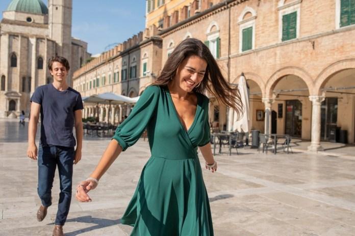 Una scena della webserie Non voglio mica la luna, girata ad Ascoli Piceno