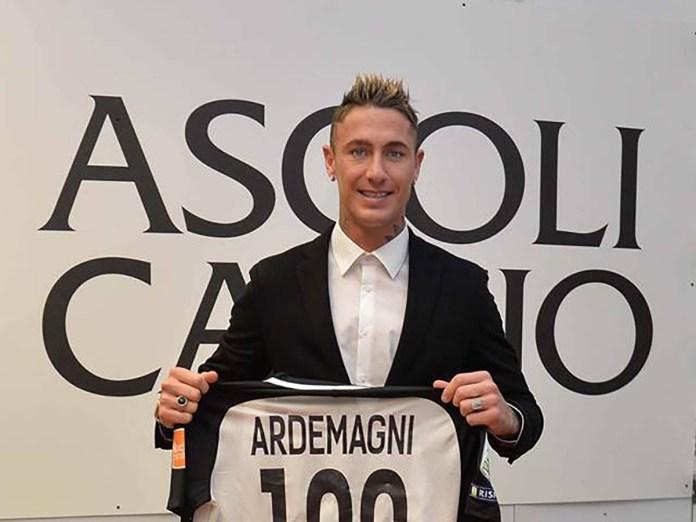 Matteo Ardemagni, attaccante dell'Ascoli Calcio