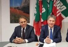 Da sinistra il senatore di FI Andrea Cangini e il Commissario regionale FI Marcello Fiori