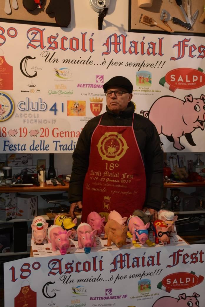 Il presidente del Club 41 di Ascoli Piceno Nerio Castellano, foto da ufficio stampa