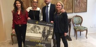 I componenti di ascolipicenofestival con il sindaco Guido Castelli