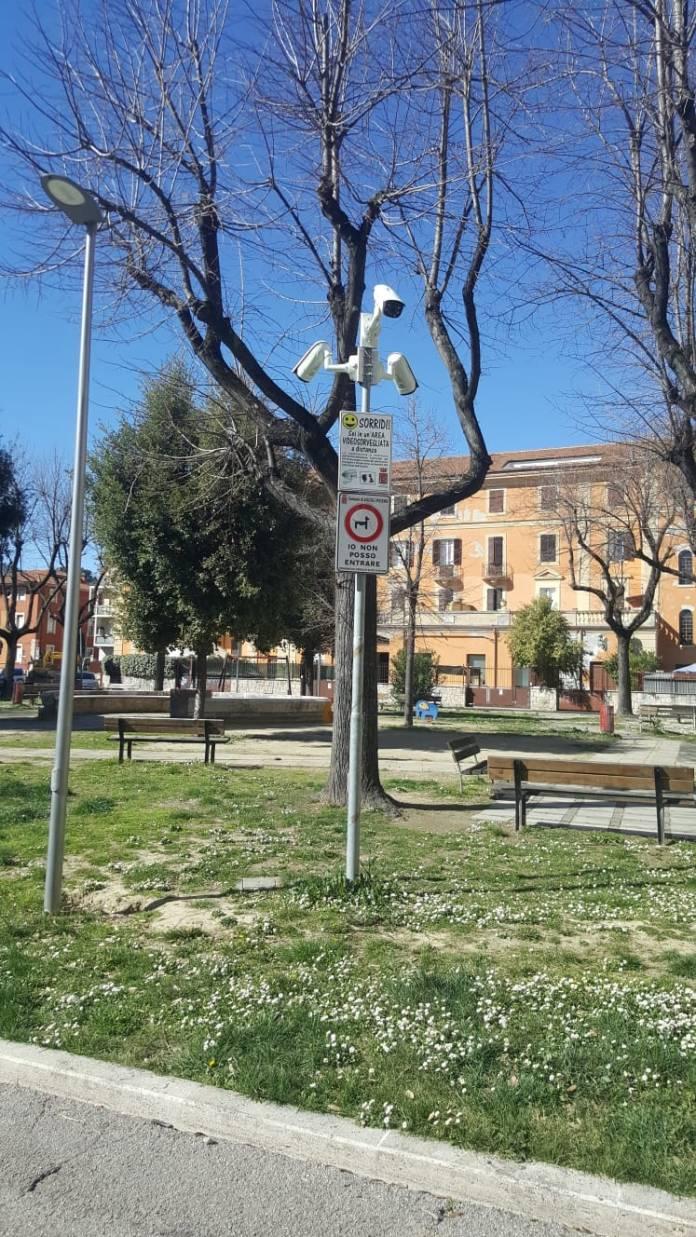 Telecamere in piazza Diaz ad Ascoli