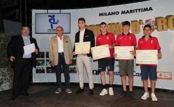 I premiati con ill Carlino d'oro, foto da pagina ufficiale Ascoli Calcio