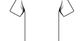 Disegna la t-shirt estiva dell'Ascoli Calcio