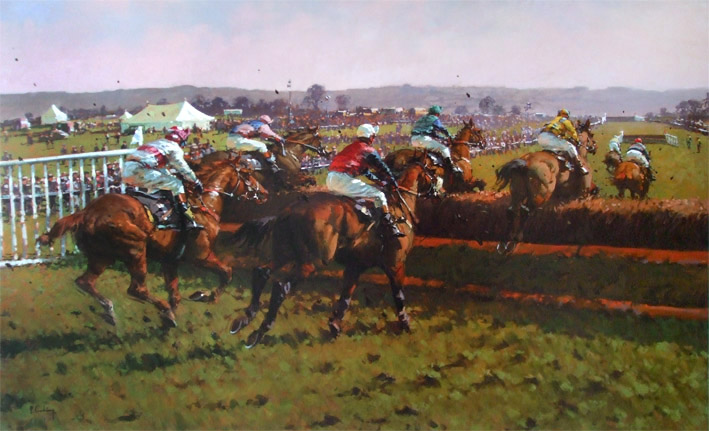 Irish Point To Point Limited Edition Horse Racing Print By
