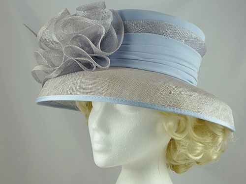 Wedding Hats 4U Jacques Vert Light Blue Wedding Hat In Blue