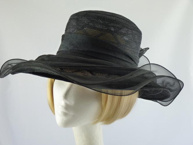 Wedding Hats 4U Wedding Hat Large Black In Black