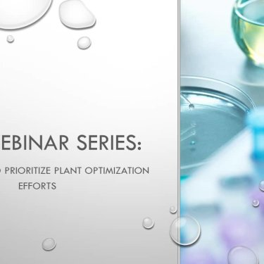 DBP Webinar Series: Approaches to Prioritize Plant Optimization Efforts