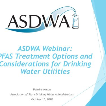 PFAS Treatment Options and Considerations for Drinking Water Utilities