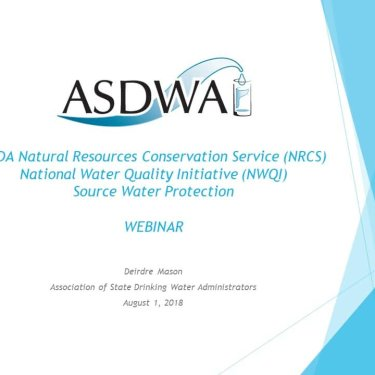 USDA NRCS National Water Quality Initiative - Source Water Protection