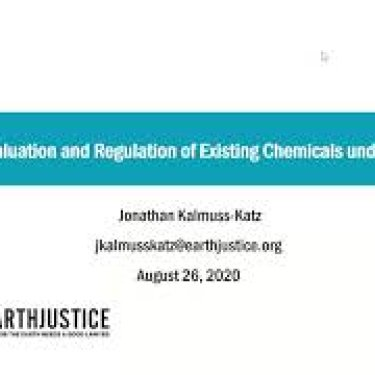 TSCA Webinar Series: TSCA and the Environment (Webinar Two)