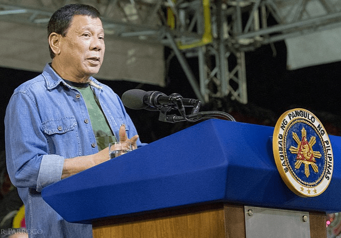 Philippine President Rodrigo Duterte Declares Resigning from Politics