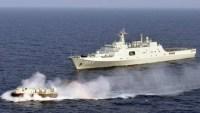 China's navy conducting drills in the South China Sea. 2013