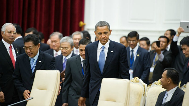 US President Barack Obama attending the ASEAN-United States Leaders' Meeting at the Peace Palace, Phnom Penh, Cambodia, back in 2012.