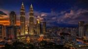 Malaysia's Kuala Lumpur by night