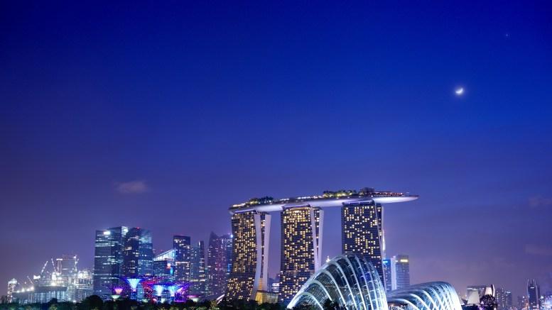 Singapore Night Moon