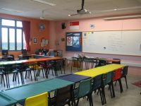 An empty classroom in Singapore
