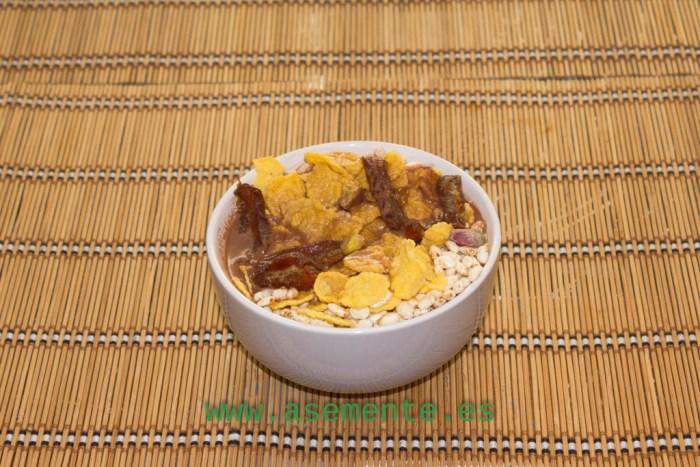 Cereales con Bebida de Almendra