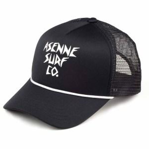 picture of black Asenne trucker cap
