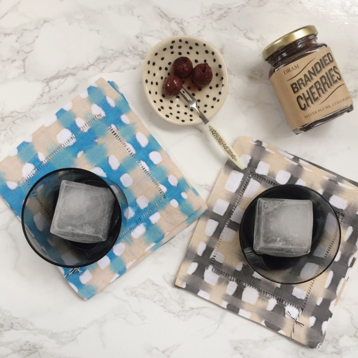 Blue/Cream Plaid Cocktail Coasters