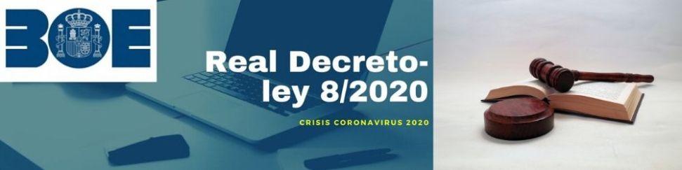 Otras medidas por el covid-19 recogidas en el Real Decreto-ley 8/2020