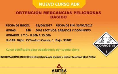 CURSO: Obtención mercancías peligrosas básico