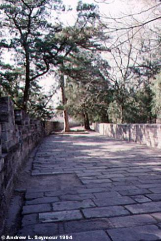 Walking up to the tombs 2