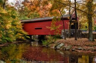 Bartram-Goshen Covered Bridge (Long Exterior View) (Fall)