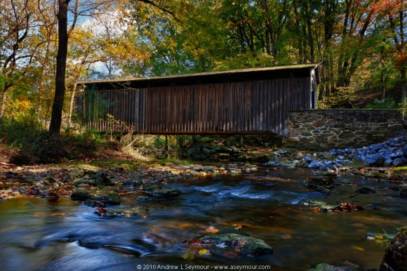 Looking East (Down Creek) - Glen Hope Covered Bridge (1889)