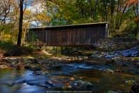 Looking East (Down Creek) - Glen Hope Covered Bridge (1889)