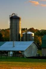 Early Dusk over Farm Silo (2010)