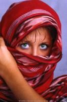 Model w/scarf
