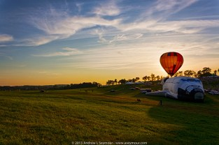 Sunset at the Chester County Hot Air Balloon