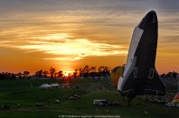 Sunset w/Patriot - Space Shuttle