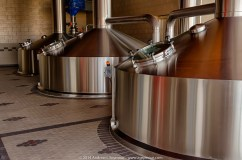 Beer Brewing Tanks at Victory Brewing Company in Parkesburg PA.
